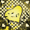 Free Abstract Grungy Background Heart Illustration Royalty Free Stock Photos - 10259388