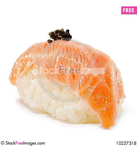 Free Japanese Cuisine - Salmon Sushi Royalty Free Stock Photos - 10257518