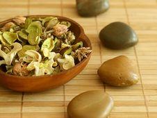 Free Natural Herbal Ingredient In Wooden Bowl Stock Photo - 10250430