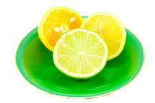 Citrus Halves Royalty Free Stock Photography