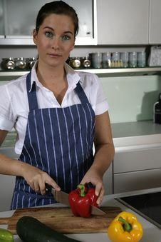 Free Woman In Kitchen Stock Photos - 10250723