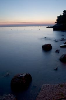 Free Sunset At Adriatic Sea Royalty Free Stock Photo - 10251045