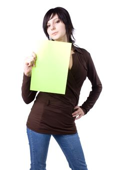 Free The Young Businesswoman At Office Behind Work Stock Photography - 10251252