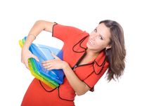 Free The Young Businesswoman At Office Behind Work Stock Images - 10251304