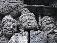 Free Borobudur Faces Stock Photography - 10251942