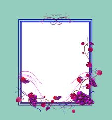 Free Floral Frame Royalty Free Stock Photos - 10252628