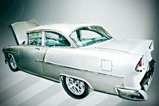 Classic  55 Chevrolet Bel Air Stock Photo