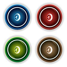 Free Colorful Buttons Stock Image - 10253971