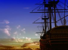Free The Ancient Ship Royalty Free Stock Image - 10254046