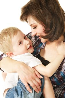Free Mother And Son Stock Photo - 10254070