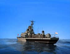 Free The Military Ship Royalty Free Stock Photography - 10254187