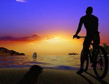 Free Silhouette Of Man Stock Photo - 10254250