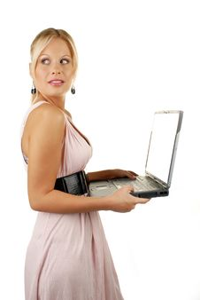 Free Attractive Female Holding Notebook Stock Photo - 10254680