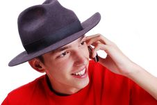 Free Young Man With Red Shirt Royalty Free Stock Photos - 10254708