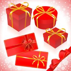 Free Gifts In Red Packing Stock Images - 10254944