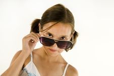 Free Young Girl With Sunglasses Royalty Free Stock Photography - 10255317