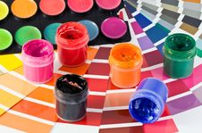 Free Palette And Paints Stock Images - 10255414