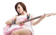 Free Jenna Playing A Guitar Stock Images - 10255704