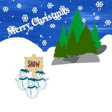 Free Merry Christmas Card Illustration Stock Photography - 10257732