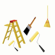 Free Household Paint Supply Illustration Royalty Free Stock Photos - 10257848