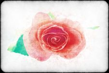 Free Purple Rose In A Retro Style Stock Photography - 10258362