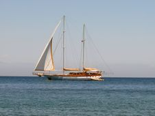Sailing Vessel On The Sea Stock Photography