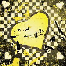 Abstract Grungy Background Heart Illustration