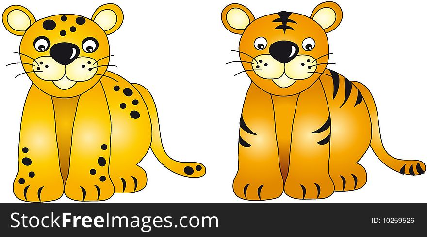 Panther and tiger