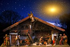 Free Nativity Scene, Sky, Night, Christmas Decoration Royalty Free Stock Photos - 102569568
