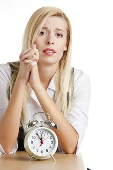 Free Businesswoman With An Alarm Clock Stock Images - 10260584