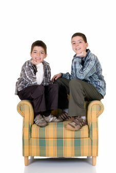 Free Two Happy Brothers Stock Photo - 10261110