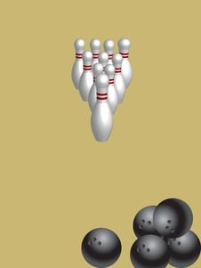 Free Bowling Illustration Stock Photos - 10261163
