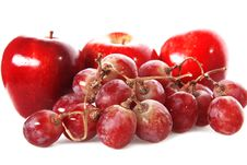 Free Fresh Red Grape And Apples Royalty Free Stock Photo - 10261245