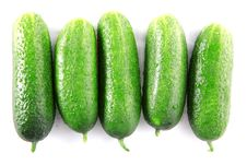 Green Cucumbers Stock Photos