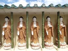 Buddha Images At Chinese Temple Stock Photo