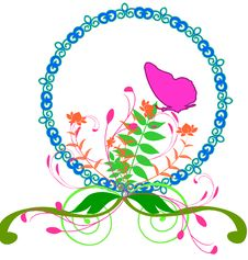 Free Floral Spring Oval Border Royalty Free Stock Photography - 10261507