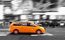 Free Taxi At Times Square Stock Photography - 10261722
