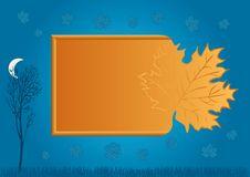 Free Blue Autumn Background Stock Images - 10261924