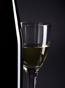 Free Wine Bottle And Glass Royalty Free Stock Image - 10263806