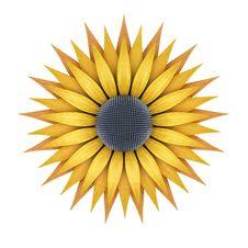 Metallic Sunflower Stock Photos