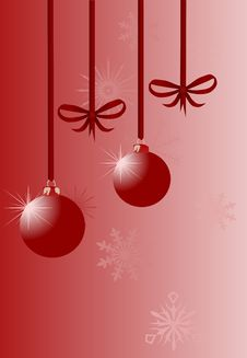 Free Bow And Christmas Tree Decorations Stock Photo - 10264740