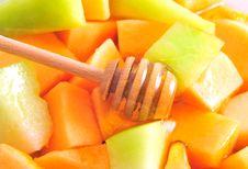Free Sliced Melon Royalty Free Stock Photos - 10265438