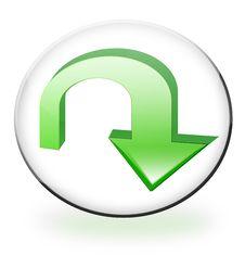 Free Circular Download Button Stock Image - 10266251