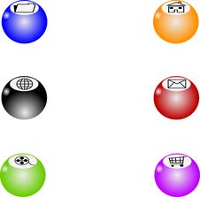 Free Web Balls Royalty Free Stock Photos - 10266768