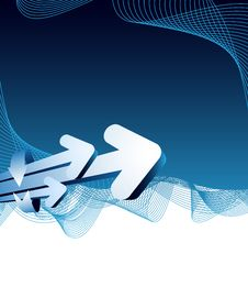 Free Blue Abstract Background With Arrows Stock Image - 10266831