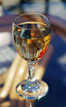 Free Wineglass In Street Cafe Stock Image - 10267091