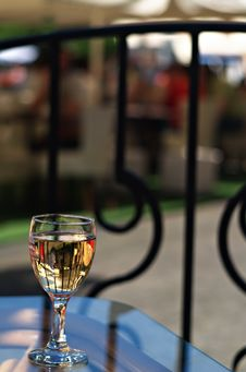 Free Wineglass In Street Cafe Stock Image - 10267101