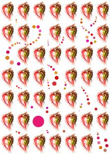 Free Seamless Hearts Pattern Royalty Free Stock Images - 10267219