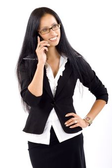 Free Attractive Businesswoman On The Phone Stock Photo - 10267240
