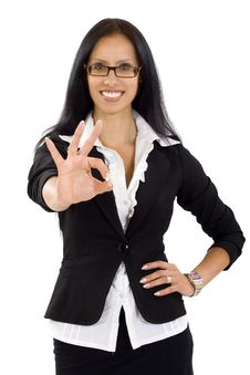 Free Attractive Businesswoman Ok Sign Stock Photos - 10267333